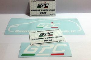 grande punto club adesivi stickers