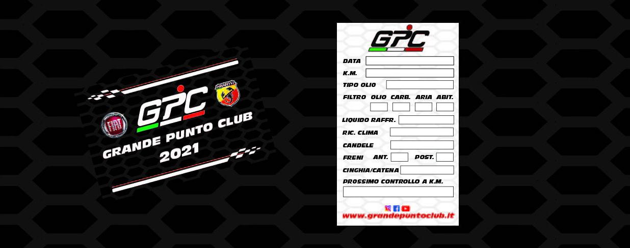 GPC Grande Punto Club 2021 Tessera Soci